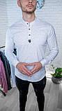 Мужская рубашка Черная с рисунком 3 пуговицы/ Турция, фото 4