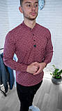 Мужская рубашка Черная с рисунком 3 пуговицы/ Турция, фото 5