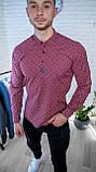 Мужская рубашка Черная с рисунком 3 пуговицы/ Турция, фото 6