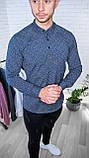 Мужская рубашка Черная с рисунком 3 пуговицы/ Турция, фото 7