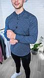 Мужская рубашка Черная с рисунком 3 пуговицы/ Турция, фото 8