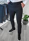 Мужские брюки облегающие Черные / Турция, фото 2