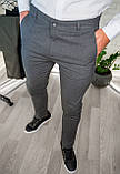 Мужские брюки облегающие Черные / Турция, фото 3