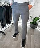 Мужские брюки облегающие Черные / Турция, фото 4