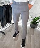 Мужские брюки облегающие Черные / Турция, фото 5