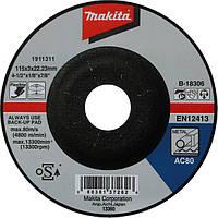 Гибкий шлифовальный круг по металлу 115 мм Makita B-18306, КОД: 2403510