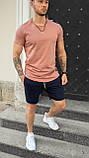 Мужская футболка приталенная оранжевая/ есть 13 цветов, фото 2