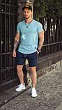 Мужская футболка приталенная оранжевая/ есть 13 цветов, фото 3