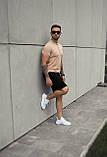 Мужская футболка Поло бежевая, фото 2