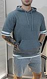 Шорты мужские серые в полоску/2 цвета в наличии, фото 6
