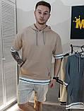 Шорты мужские серые в полоску/2 цвета в наличии, фото 9