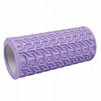 Массажный ролик валик, роллер SportVida EVA 33 x 14 см SV-HK0225 Purple, КОД: 2412032