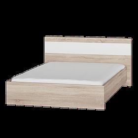 Кровать Соната Эверест 140х200  Сонома с белым psgUK-6415014, КОД: 1475793