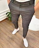 Мужские брюки зауженные черные/ Турция, фото 2