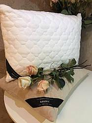 Подушка Бамбуковая Гипоаллергенная Размер 50*70 см Белая Бежевая В Чехле Турция  Elita