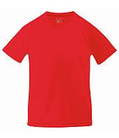 Детская спортивная футболка Fruit of the Loom 104 см Красный D061013040104, КОД: 1670295
