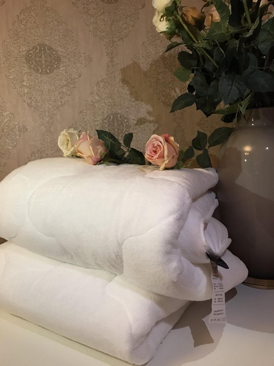 Одеяло Бамбуковое Гипоаллергенное Размер Евро 195*215 см Белое Бежевое В Чехле Турция Elita