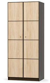 Шкаф Мебель Сервис 2Д Фантазия Венге темный Дуб Самоа qas10k, КОД: 1533079