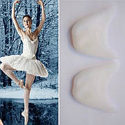 Вкладыши для пуантов белые силиконовые