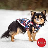 Жилет для собаки утепленный DIEGO sport 1/1 микс, размер 1