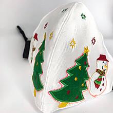 Різдвяна світлодіодна світиться маска, Біла