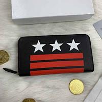 Мужской кошелек портмоне черный Givenchy кожа