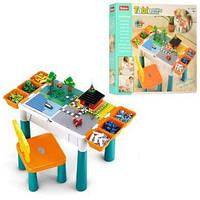 Столик для сборки и хранения конструктора и стульчик Sluban M38-B0788