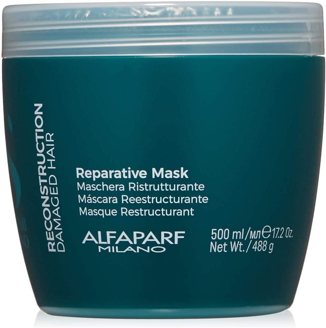 Маска Alfaparf Reconstruction Semi di Lino Reparative mask для пошкодженого волосся 500 мл