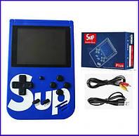 Портативная игровая приставка консоль Retro FC SUP Game box 400 in 1 Синий, фото 1
