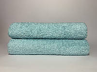 Махровое полотенце для лица бирюзовое светлое