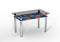 Стол Sentenzo ПОЗИТИВ 1100x650x750 Оранжево-синий 236631337, КОД: 1918478