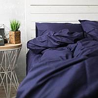 Комплект постельного белья Хлопковые Традиции семейный 200x220 Темно-синий PF01семья, КОД: 353936