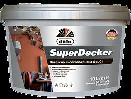 Фарба професійна інтерєрна DUFA SuperDecker 10 л Біла 14393, КОД: 2404481
