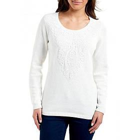 Пуловер Eddie Bauer Womens Sweater Lace-Up IVORY M Белый 7101830IV-M, КОД: 1212707