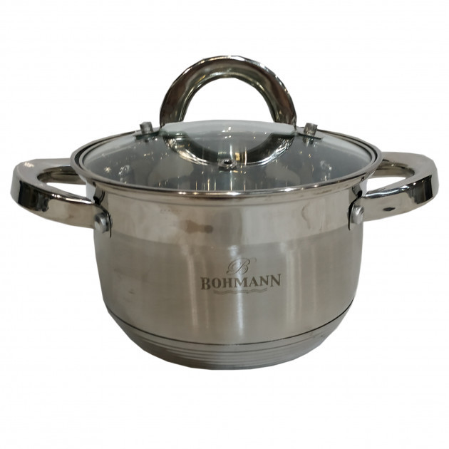Кастрюля Bohmann ВН 1416 2,1 л с крышкой нержавеющая сталь
