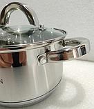 Кастрюля Bohmann ВН 1416 2,1 л с крышкой нержавеющая сталь, фото 4