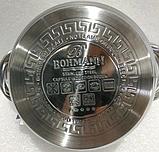 Кастрюля Bohmann ВН 1416 2,1 л с крышкой нержавеющая сталь, фото 5