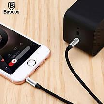 Аудио кабель AUX 3.5mm jack Baseus М30 Yiwen (Черным с серебром, 1.5м), фото 3