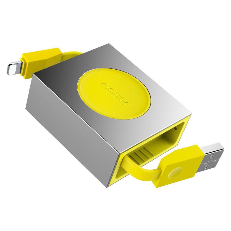 Кабель Lightning Retractable Rock RCB0547 для передачи данных и зарядки (0.8м)