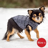 Жилет для собаки утеплений DIEGO sport 1/2 сірий, розмір 1