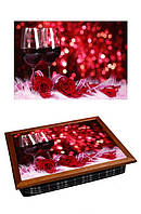 Поднос на подушке BST 040311 4436 коричневый Романтический ужин 040311, КОД: 1404038