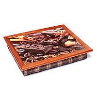 Поднос на подушке BST 710050 44х36 см Шоколад, зерна кофе, корица, КОД: 1640337
