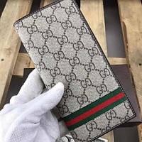Мужской кожаный бумажник кошелек Gucci . Мужское портмоне гуччи