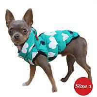 Жилет для собаки утеплений DIEGO sport 1/3 серце, розмір 1