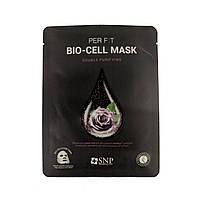 Биоцеллюлозная маска на основе экстракта чёрной розы SNP Double Purifying Bio-cell Mask 25 мл 880, КОД: