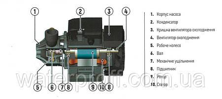 Поверхностно вихревая насосная станция AUTO QB-60 24L KOER, Hmax 35м, Qmax 40л/мин, P 370Вт, фото 2