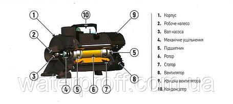Поверхневий відцентровий насос KGA-1A KOER, Hmax 18м, Qmax 270л/хв, P 750Вт, фото 2