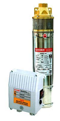 Скважинный вихревой насос 4 SKm 100 KOER, Hmax 60м, Qmax 50л/мин, P 750Вт
