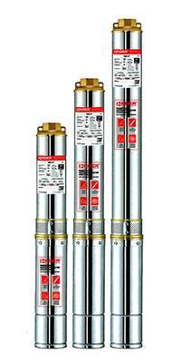 Скважинный центробежный насос 3 SDM 2/15+40м KOER, Hmax 64м, Qmax 45л/мин, P 370Вт (40м кабеля)