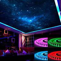 Светодиодная лента с пультом и блоком питания LED 5050 RGB многоцветная